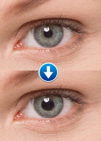 kleur lenzen voor donkere ogen